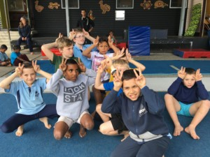 students in character during school circus workshops
